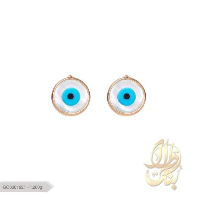 گوشواره چشم نظر گرد صدفی
